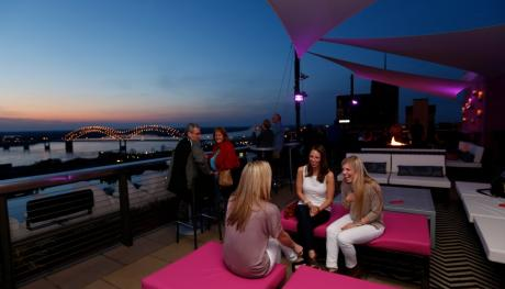 Twilight Sky Terrace at the Madison Hotel. Photo Credit: Justin Fox Burks