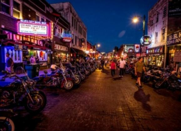 Bike night on Beale Street is every Wednesday in the Summer. Photo by Craig Thompson.