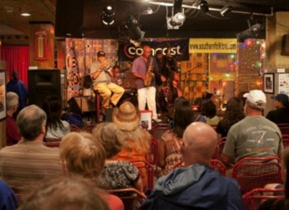 Concert at the Center for Southern Folklore. Photo by Baxter Buck