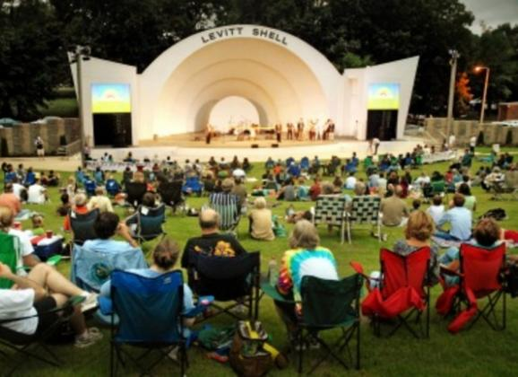 The Levitt Shell offers many free outdoor concerts in Memphis. Photo by The Commercial Appeal