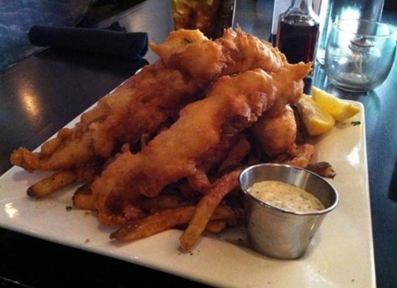 Ghost River beer battered fish and chips from Local Gastropub. Photo by Kerry Crawford.