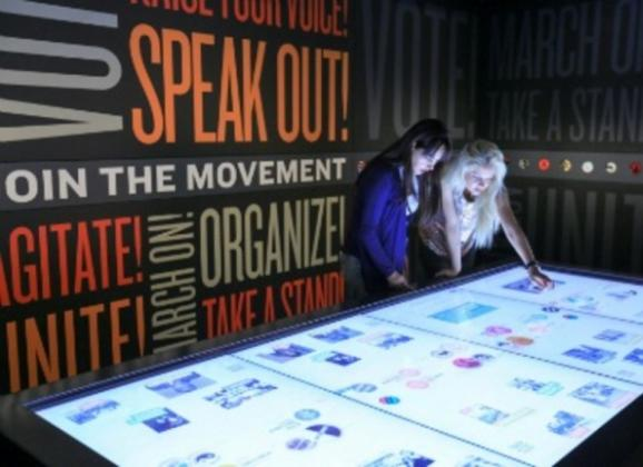 New touchscreen displays at the National Civil Rights Museum in Downtown Memphis. Photo by Brand USA