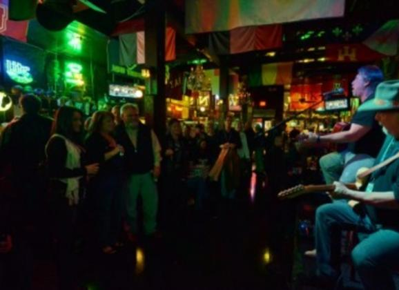 Live entertainment on Beale Street at Silky O'Sullivans. Photo by Andrea Zucker.