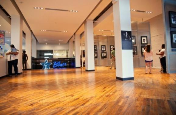 Interior of Blues Hall of Fame in Memphis, TN. Photo by Lisa Mac.
