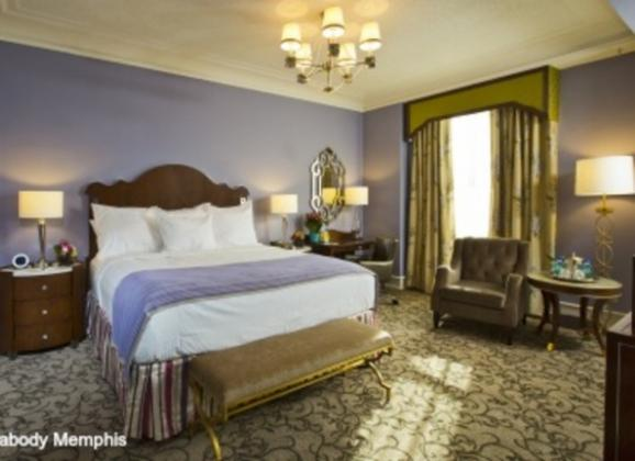 Deluxe King Room at The Peabody Hotel in Downtown Memphis. Photo by The Peabody Memphis