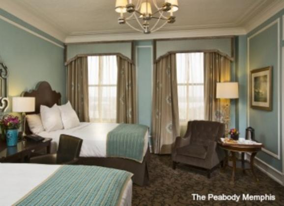 Superior Double Room at The Peabody Hotel in Downtown Memphis. Photo by The Peabody Memphis