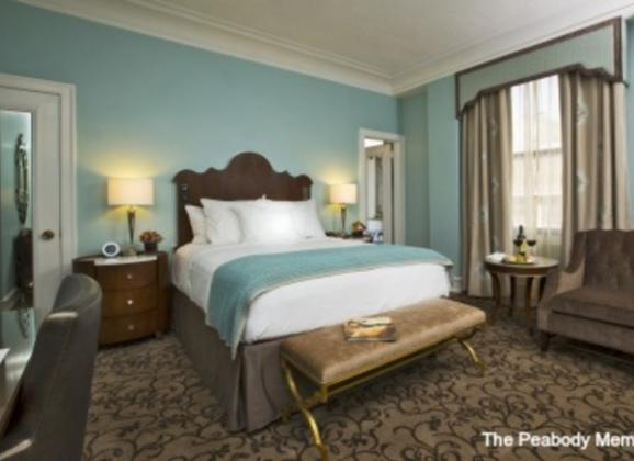 Traditional King Room at The Peabody Hotel in Downtown Memphis. Photo by The Peabody Memphis.