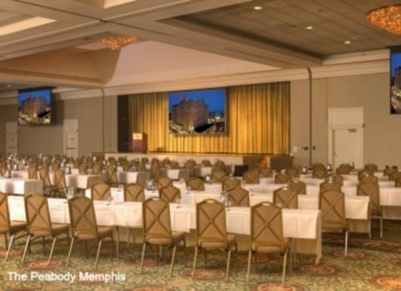 Grand Ballroom at Peabody Hotel in Memphis. Photo by The Peabody Memphis