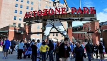 AutoZone Park - home of the Memphis Redbirds offers tours during the season. Photo by Andrea Zucker.