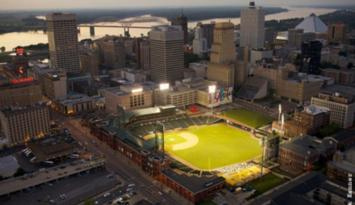 #1 Minor League Baseball Park in Downtown Memphis. Photo by Jack Kenner