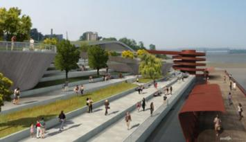 Beale Street Landing, Memphis' newest port of call. Rendering by Paradigm Marketing & Creative / www.2dimes.com.