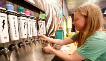 Wiseacre tap room serves local Memphis beer. Photo by Justin Fox Burks.