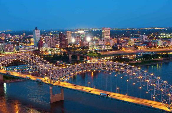 Memphis Skyline with Bridge. Photo Credit: Jack Kenner.